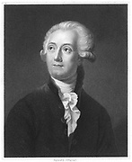 Antoine Laurent Lavoisier (1743-1894) French chemist. From 'The Gallery of Portraits'. Vol.V, Charles Knight, London, 1835.