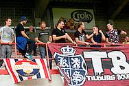 18-07-2015 VOETBAL:MOESKROEN-WILLEM II:MOESKROEN<br /> <br /> De supporters van Willem II waren ook aanwezig in Moeskroen<br /> <br /> <br /> Foto: Geert van Erven