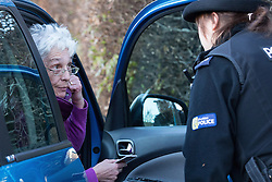 © Licensed to London News Pictures . 01/05/2013 . Wilmslow , Cheshire , UK . A woman arrives at The White House , home to actor Bill Roache MBE , this evening (1st May 2013) . Coronation Street actor , Bill Roache MBE has been arrested on charges of an historic rape against a 15 year old girl . Photo credit : Joel Goodman/LNP