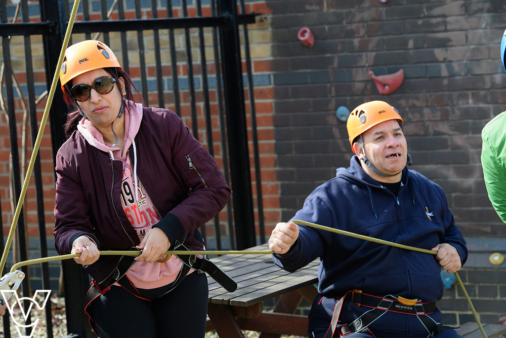 East London Vision / Metro Blind Sport event at High Ropes Outdoors in the City, Canning Town, London.<br /> <br /> Picture: Chris Vaughan Photography<br /> Date: March 25, 2017