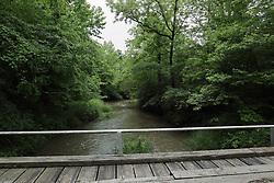 "Long Point Creek and Long Point Creek Bridge (built in 1931) in DeWitt County Illinois near the village of Waynesville.  40°15'50.0""N 89°01'46.9""W"