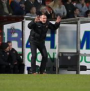 10th April 2018, Tannadice Park, Dundee, Scotland; Scottish Championship football, Dundee United versus St Mirren; Dundee United manager Csaba Laszlo