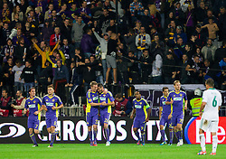Players of Maribor celebrate during football match between NK Maribor and Panathinaikos Athens F.C. (GRE) in 1st Round of Group Stage of UEFA Europa league 2013, on September 20, 2012 in Stadium Ljudski vrt, Maribor, Slovenia. Maribor defeated Panathinaikos 3-0. (Photo By Vid Ponikvar / Sportida)