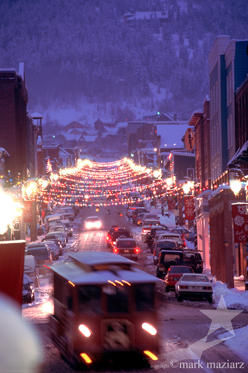 Main St in winter