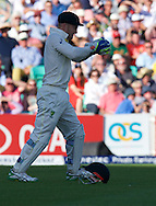 Ben Stokes of England is caught by wicketkeeper Peter Nevill of Australia during the 5th Investec Ashes Test Match match at the Kia Oval, London<br /> Picture by Alan Stanford/Focus Images Ltd +44 7915 056117<br /> 21/08/2015