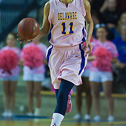 02/05/12 Newark DE: Delaware Junior Forward #11 Elena Delle Donne brings the ball up court during a Colonial Athletic Association game against the VCU Lady Rams, Feb. 5, 2012 at the Bob carpenter center in Newark Delaware.<br /> <br /> Special to The News Journal/SAQUAN STIMPSON