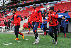 Bristol City players warm up- Mandatory by-line: Nizaam Jones/JMP - 17/03/2018 - FOOTBALL - Ashton Gate Stadium- Bristol, England - Bristol City v Ipswich Town - Sky Bet Championship