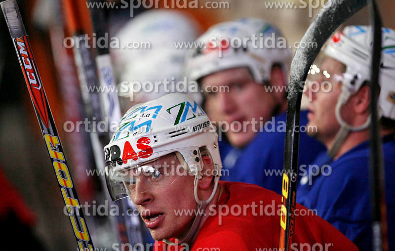 Ales Music at  hockey training of Slovenian national team, on December 12, 2007 in Bled - Ice Arena, Slovenia. (Photo by Vid Ponikvar / Sportal Images)