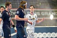 Altercation Pierre Soudry / Mikkel Hansen - 14.05.2015 - PSG / Dunkerque - 23eme journee de D1<br /> Photo : Andre Ferreira / Icon Sport