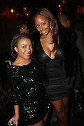 l to r: Kelli Mitchell and Kimberly Gray at The Birthday Celebration for Kelli Coleman held at The Avenue on Decemeber 6, 2009 in New York City