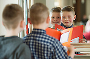 REPRO FREE: 5 year old Coiln and his author brother Riain O Connaire from Baile an Dangan at the Galway Education Centre's Scriobh Leabhair at the Radisson Blu hotel where national school pupil wrote and Illustrated their own books. Photo:Andrew Downes, xposure.