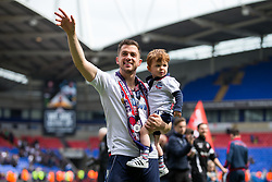 Free to use courtesy of Sky Bet - Andrew Taylor waves to fans as Bolton Wanderers celebrate finishing the season as Sky Bet League One runners up to secure automatic Promotion to the 2017/18 Sky Bet Championship - Rogan Thomson/JMP - 30/04/2017 - FOOTBALL - Macron Stadium - Bolton, England - Bolton Wanderers v Peterborough United - EFL Sky Bet League One.