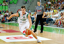 Goran Dragic of Slovenia during friendly match before Eurobasket Lithuania 2011 between National teams of Slovenia and Lithuania, on August 24, 2011, in Arena Stozice, Ljubljana, Slovenia. Slovenia defeated Lithuania 88-66. (Photo by Vid Ponikvar / Sportida)