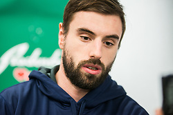 Matic Podlipnik during press conference of Slovenia Ice Hockey Team before friendly games against Hungary, Italy and Belarus, on February 4, 2019 in Bled, Slovenia. Photo by Peter Podobnik / Sportida