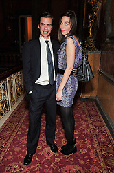 ROBERT SHEFFIELD and his sister LUCY SHEFFIELD at a party to celebrate 300 years of Tatler magazine held at Lancaster House, London on 14th October 2009.