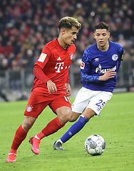 25.01.2020, Allianz Arena, Muenchen, GER, 1. FBL, FC Bayern Muenchen vs Schalke 04, 19. Runde, im Bild Philippe Coutinho und Amine Harit // during the German Bundesliga 19th round match between FC Bayern Muenchen and Schalke 04 at the Allianz Arena in Muenchen, Germany on 2020/01/25. EXPA Pictures © 2020, PhotoCredit: EXPA/ SM<br /> <br /> *****ATTENTION - OUT of GER*****
