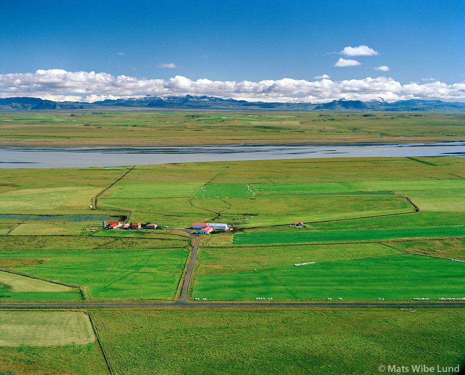 Votamýri séð til austurs, Þjórsa, Skeiða- og Gnupverjahreppur áður Skeiðahreppur / Votamyri viewing east, River Thjorsa. Skeida- og Gnupverjahreppur former Skeidahreppur.