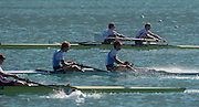 Aiguebelette, FRANCE.  GBR LM2-. Top. Bow, Sam SCRIMGEOUR and Jonathan CLEGG. 09:11:33  Saturday  21/06/2014. [Mandatory Credit; Peter Spurrier/Intersport-images]