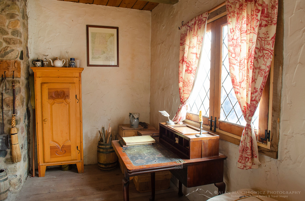 Officer quarters interior. Colonial Michilimackinac, Mackinaw City Michigan.