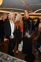 Left to right, MELISSA ODABASH, AMANDA WAKELEY and LADY VICTORIA HERVEY at a reception to launch the range of Dr Lancer beauty products held at The Penthouse, Harrods, Knightsbridge, London on 16th September 2013.