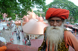 June 18, 2017 - Guwahati, India - Devotees gathered at   Kamakhya Temple for the upcoming Ambubachi Mela in Guwahati. Thousands of devotees from all over India gather on occasion of Ambubachi Mela, which is celebrated to mark the menstruation period of the goddess and during which occasion the sanctorum of the shrine remains closed to worshipers. (Credit Image: © Rajib Jyoti Sarma/Pacific Press via ZUMA Wire)