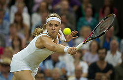 LONDON, ENGLAND - Tuesday, June 28, 2011: Sabine Lisicki (GER) in action during the Ladies' Singles Quarter-Final match on day eight of the Wimbledon Lawn Tennis Championships at the All England Lawn Tennis and Croquet Club. (Pic by David Rawcliffe/Propaganda)