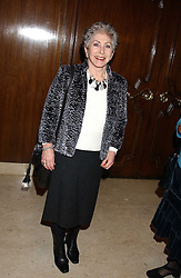 VALERIE SINGLETON at the Holders Season Barbados Comes to London night at The Four Seasons Hotel, Hamilton Place, London on 3rd February 2006.<br /><br />NON EXCLUSIVE - WORLD RIGHTS