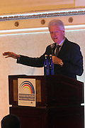 New York, NY-January 31: Former President Bill Clinton attends ' the Access to Capital ' Luncheon held during the 16th Annual Wall Street Project Economic Summit held at the Roosevelt Hotel on January 31, 2013 in New York City. The Rainbow PUSH Coalition is a progressive organization protecting, defending and expanding civil rights to improve economics and educational opportunity. (Terrence Jennings)