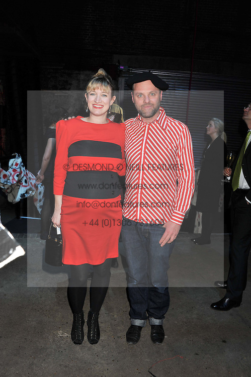 GAVIN TURK and ROSIE ALLERHAND at the Contemporary Art Society's Gala evening held at the Farmiloe Buildings, St.John Street, London EC1 on 29th February 2012.
