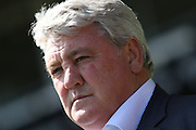 Hull manager Steve Bruce ahead of the Sky Bet Championship play-off first leg match between Derby County and Hull City at the iPro Stadium, Derby, England on 14 May 2016. Photo by Aaron  Lupton.