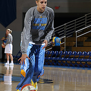 Chicago Sky Forward Elena Delle Donne (11) warming up prior to a WNBA preseason basketball game between the Chicago Sky and the Washington Mystics Tuesday, May. 13, 2014 at The Bob Carpenter Sports Convocation Center in Newark, DEL.
