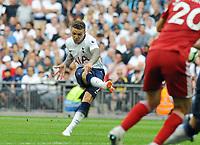 Football - 2018 / 2019 Premier League - Tottenham Hotspur vs. Fulham<br /> <br /> Kieran Trippier of Spurs scores goal no 2 from a free kick, at Wembley Stadium.<br /> <br /> COLORSPORT/ANDREW COWIE