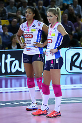 01-05-2017 ITA: Liu Jo Volley Modena - Igor Gorgonzola Novara, Modena<br /> Final playoff match 1 of 5 / Celeste Plak #4, Laura Dijkema #14<br /> <br /> ***NETHERLANDS ONLY***