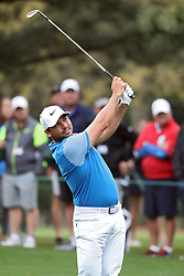 April 7, 2018 - Augusta, GA, USA - Jason Day hits from the 1st fairway during the third round of the Masters Tournament on Saturday, April 7, 2018, at Augusta National Golf Club in Augusta, Ga. (Credit Image: © Jason Getz/TNS via ZUMA Wire)