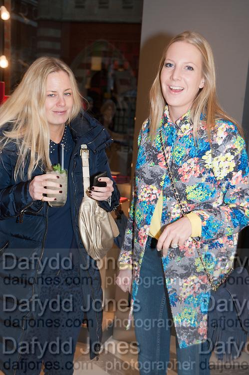 ASTRID HARBORD; ALICE NAYLOR LEYLAND, Smythson Sloane St. Store opening. London. 6 February 2012.