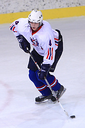 Miha Ahacic at friendly ice-hockey game between Slovenian National Team U20 and HKMK Bled, before World Championship Division 1, Group A in Herisau, Switzerland, on December 11, 2008, in Bled, Slovenia. (Photo by Vid Ponikvar / Sportida)