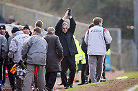 Cardiff City manager Dave Jones applauds the fans at the end of the match with Plymouth<br /> <br /> Photo: Richard Eaton.<br /> <br /> Plymouth Argyle v Cardiff City. Coca Cola Championship. 18/03/2006.