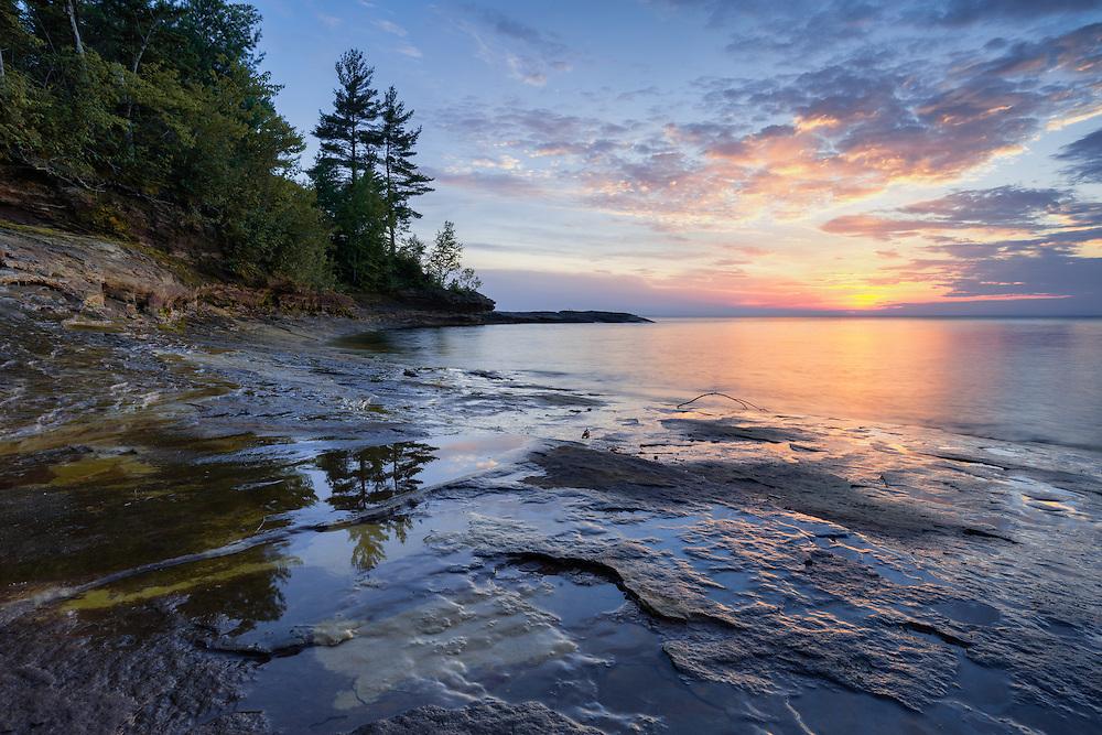 Dusk near Paradise Point, Michigan's Upper Peninsula