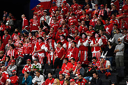 06.05.2017, AccorHotels Arena, Paris, FRA, IIHF WM 2017, Schweiz vs Slowenien, Gruppe B, im Bild Fans Schweiz // during the group B match of 2017 IIHF World Championship between Switzerland and Slovenia at the AccorHotels Arena in Paris, France on 2017/05/06. EXPA Pictures &copy; 2017, PhotoCredit: EXPA/ Freshfocus/ Urs Lindt<br /> <br /> *****ATTENTION - for AUT, SLO, CRO, SRB, BIH, MAZ, ITA only*****