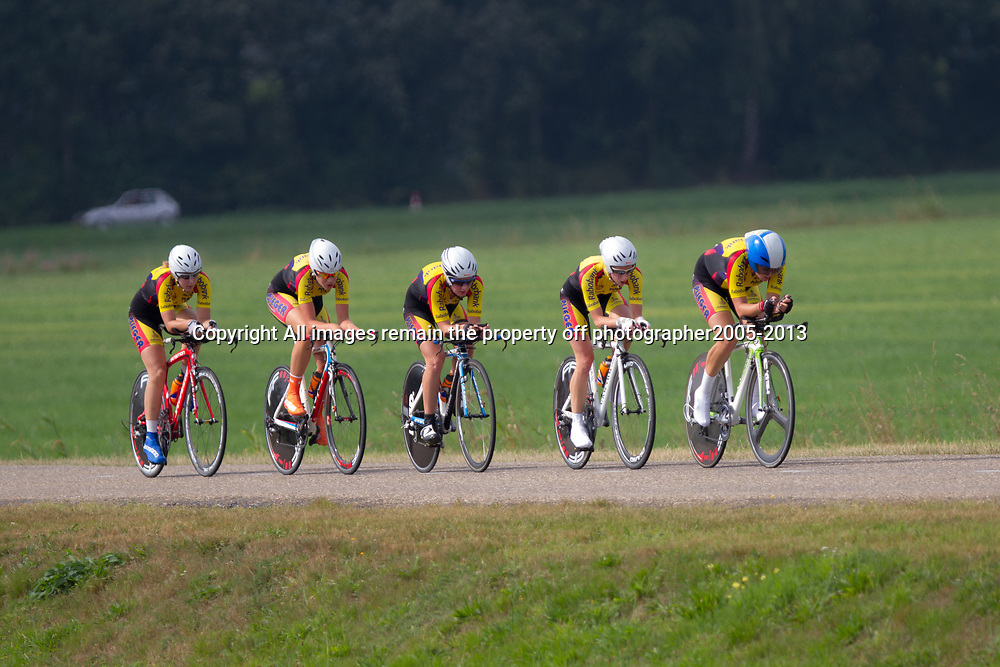 Boels Rental Ladies Tour Coevorden TTT 10th Team Rabo Plieger Jan van ArckelWinanda Spoor, Chris van den Bergh, Kirsten Peetoom, Silke Kogelman, Corine van der Zijden, Roos Hoogeboom