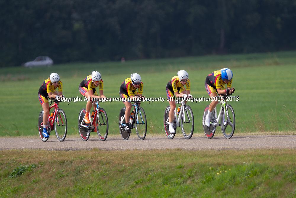 Boels Rental Ladies Tour Coevorden TTT 10th Team Rabo Plieger Jan van ArckelWinanda Spoor, Chris van den Bergh, Kirsten Peetoom, Silke Kogelman, Corine van der Zijden, Roos Hoogeboom