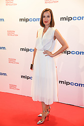 Claire Van Der Boom arriving for the opening ceremony of the MIPCOM in Cannes - Marche international des contenus audiovisuels du 16-19 Octobre 2017, Palais des Festivals, Cannes, France.<br />