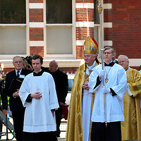 London May 21 The Most Rev Vincent Nichols  wearing  newly-made gold-coloured  vestments arriving at Westminster Cathedral, to  be formally installed as 11th Archbishop of Westminster in a ceremony . He will be The new leader of an estimated 4.2 million Roman Catholics in England and Wales...Standard Licence feee's apply  to all image usage.Marco Secchi - Xianpix tel +44 (0) 845 050 6211 .e-mail ms@msecchi.com .http://www.marcosecchi.com