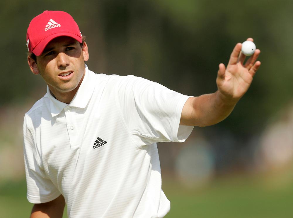 PINEHURST, NORTH CAROLINA - JUNE 16, 2005<br /> Sergio GARCIA during the 1st Round of the 2005 U.S. Open Championship, held at Pinehurst No.2 in the Village of Pinehurst, North Carolina.