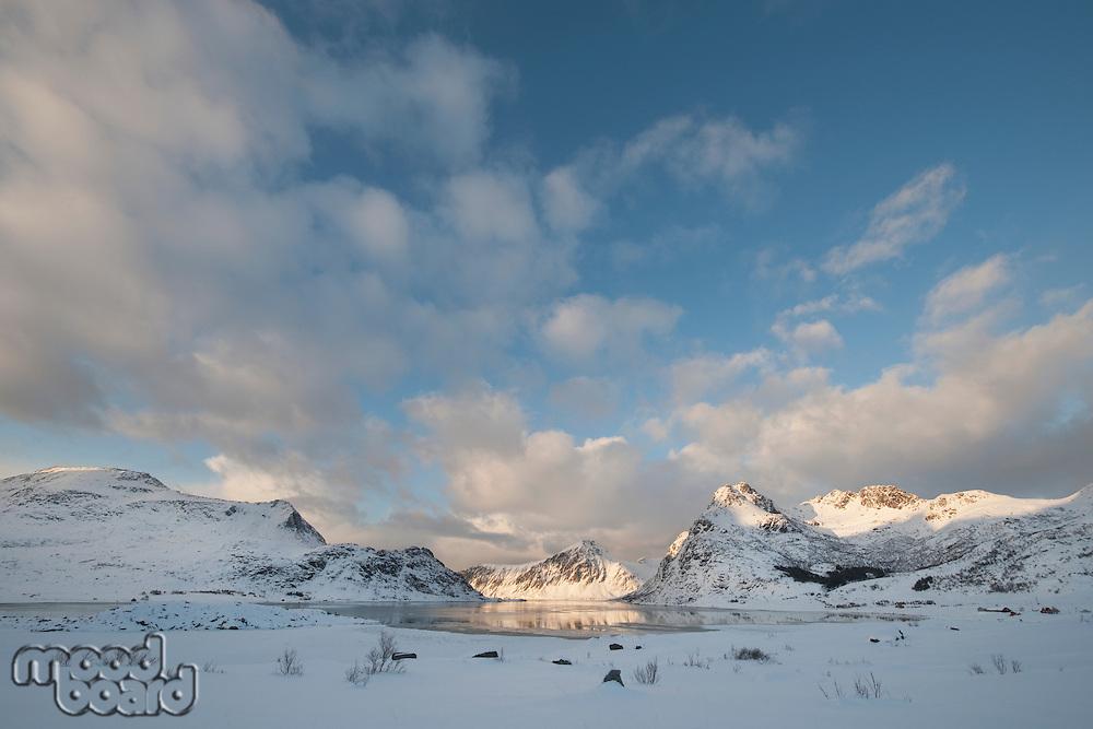 Coastal landscape on Flakstadoya Loftofen Norway