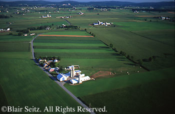 PA Landscapes, Southcentral Pennsylvania Aerial Photographs Farmlands, Family Farms, Mixed Cultivation, Lebanon Valley, Lebanon Co., PA