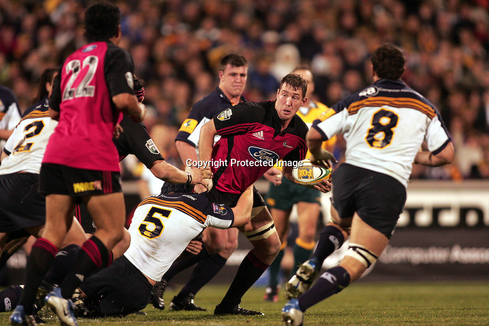 22 May, 2004. Super 12 Final, Canberra Stadium, Canberra ACT, Australia.<br /> Chris Jack.<br /> The Brumbies defeated the Crusaders  48-37<br /> Please credit: Photosport