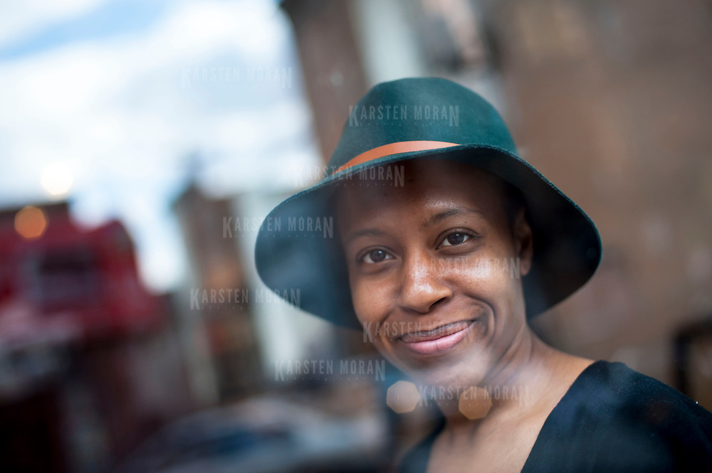 March 13, 2013 - New York, NY : Danielle Jackson, a co-founder of The Bronx Documentary Center, moved from Flatbush in Brooklyn, to Mott Haven in May. Pictured here, Danielle, poses for a portrait at the Center on Wednesday afternoon. CREDIT: Karsten Moran for The New York Times