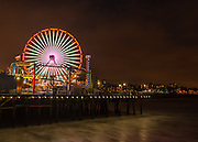 The Santa Monica Pier at Night