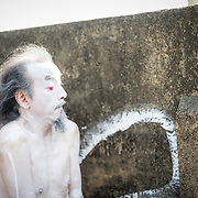 Old Japanese Dormitory -- Japanese Butoh Dance and Paint